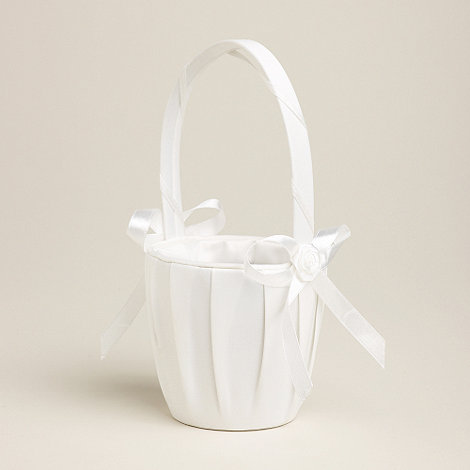 Debenhams - Girl+s ivory confetti basket