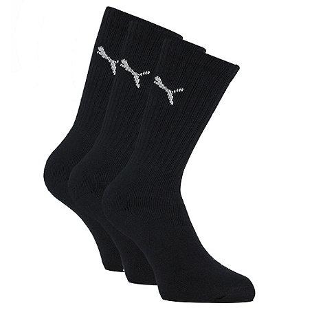 Puma - Pack of three black sports socks
