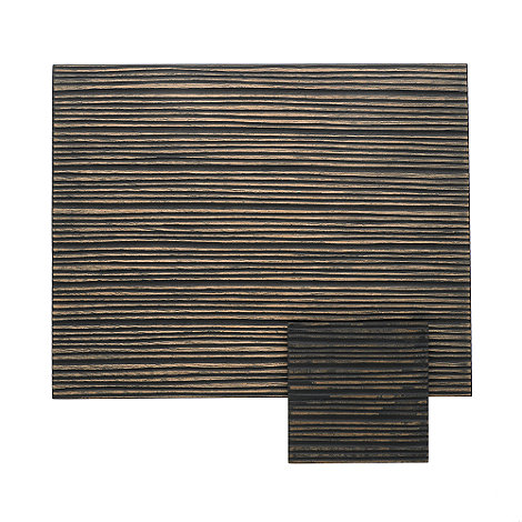 RJR.John Rocha - Set of two dark etch wood placemats