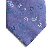 Lilac fancy floral silk tie