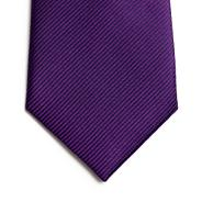 Designer purple ribbed silk tie
