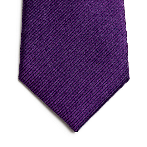Jeff Banks - Designer purple ribbed silk tie