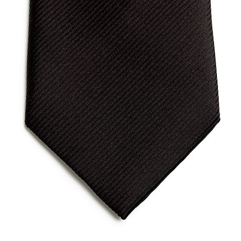 Jeff Banks - Designer black ribbed silk tie
