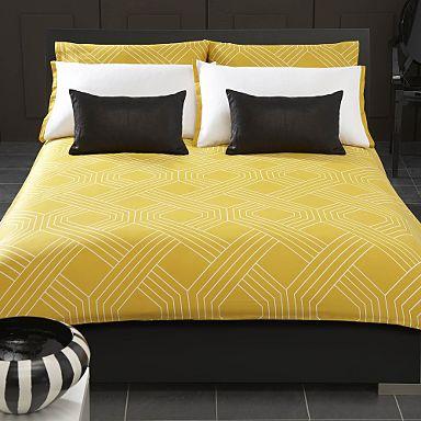 Yellow geo bed linen coordinates - Bed linen coordinates - Bed linen - Bedroom - Home - Debenhams