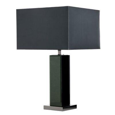 Black bevelled mirror table lamp