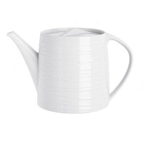 RJR.John Rocha - White +Etch+ teapot