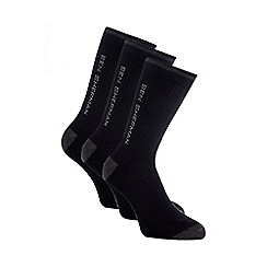 BEN SHERMAN - Pack of three black sport socks