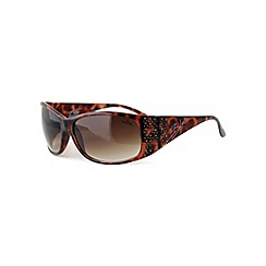 Bloc - Brown 'Turin' scattered stone wrap sunglasses