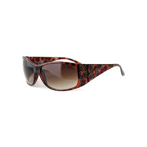 Bloc - Brown +Turin+ scattered stone wrap sunglasses