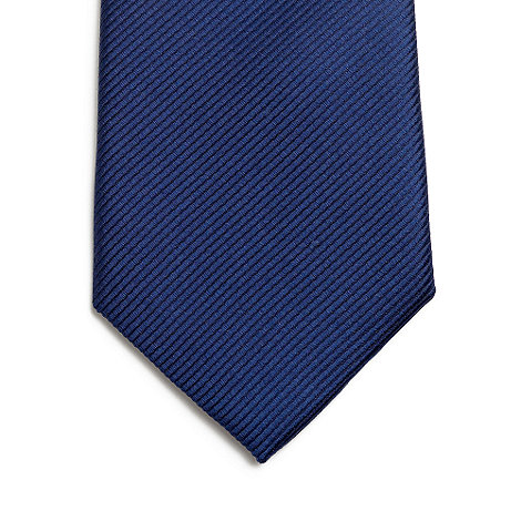 Jeff Banks - Designer blue ribbed silk tie
