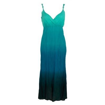 casual collection turquoise dip dye maxi dress  review