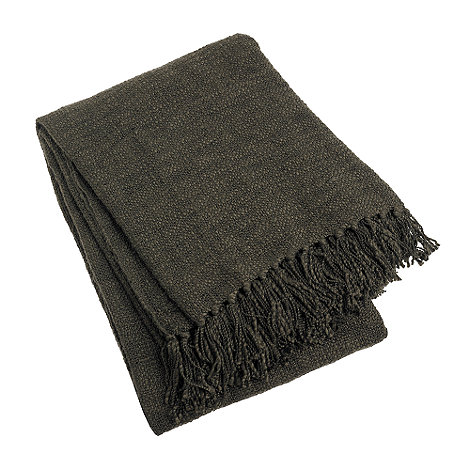 Home Collection - Brown textured throw