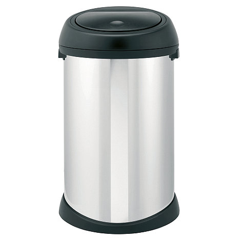 Brabantia - Brilliant steel with black lid 50 litre touch bin