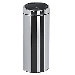 Brabantia - Brilliant steel with black lid 30 litre touch bin