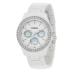 Fossil - Ladies white bracelet watch