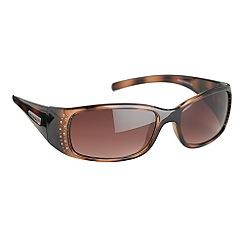 Bloc - Tortoise slim rounded sunglasses