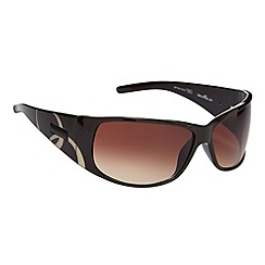 Bloc - Brown large oval printed sunglasses