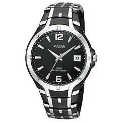 Pulsar - Men's black dial and bracelet watch