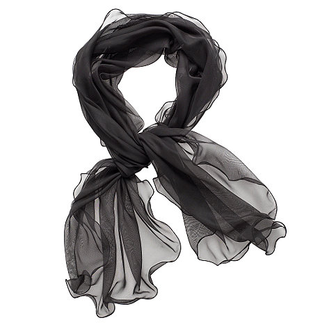 Debut - Black ruffle edged stole