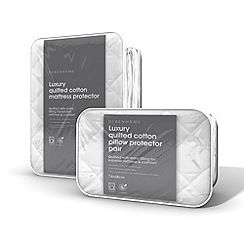 Debenhams - Luxury quilted mattress protector