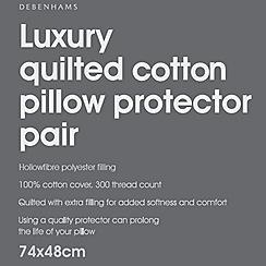 Debenhams - Luxury quilted pillow protector