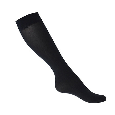Debenhams - Navy 40d semi opaque knee highs