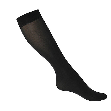 Debenhams - Black 40d semi opaque knee highs