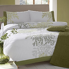 Debenhams - Bright green 'Fernwood' bed linen