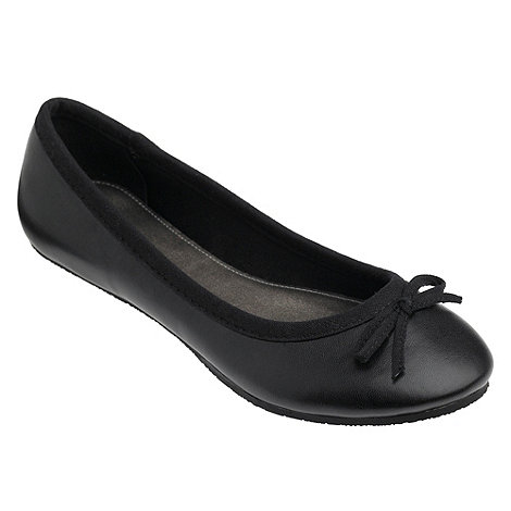 bluezoo - Girl+s black basic bow pumps