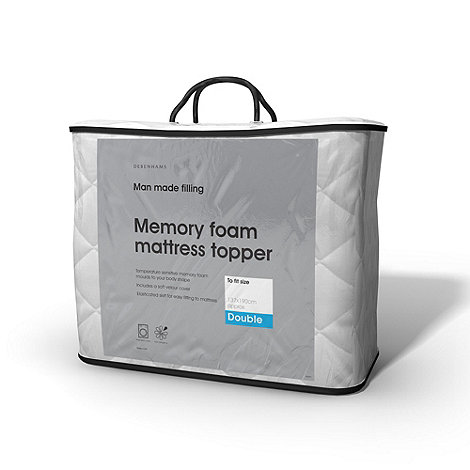 Debenhams - Memory foam mattress topper
