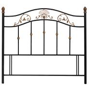 Black angelica antique gold headboard