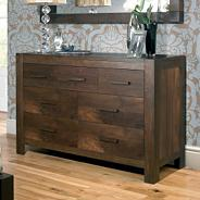 Walnut 'Lyon' seven drawer chest