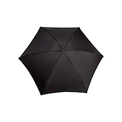 Isotoner - Black eco-brella miniflat 5 section