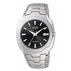 Citizen - Men's light grey titanium watch