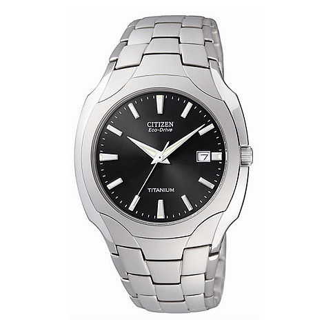 Citizen - Men+s light grey titanium watch