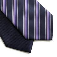 Pack of two purple stripe and plain ties