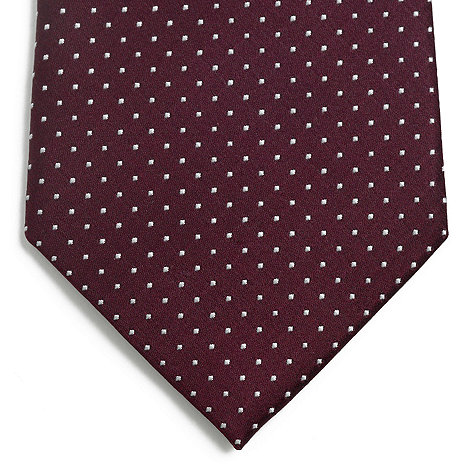 J by Jasper Conran - Designer red pin dot silk tie