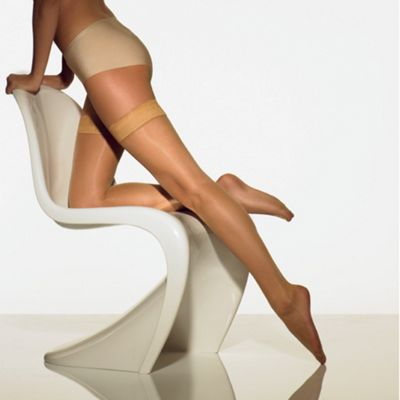 Light cream 7D sheer ladder resistant hold ups