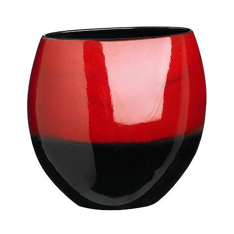 RJR.John Rocha - Red reactive half moon vase