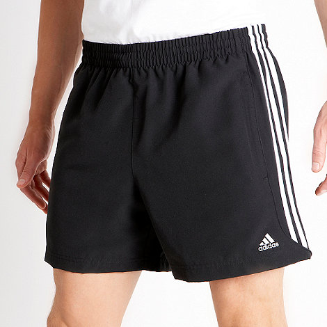 adidas - Black 3 stripe shorts