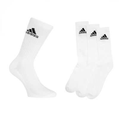 Pack Of Three White Crew Socks