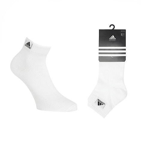 adidas - Pack of three white ankle socks