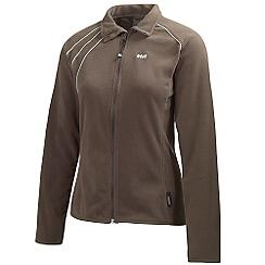 Helly Hansen - Chocolate 'Sunset' lightweight micro fleece jacket