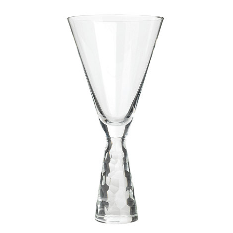 Star by Julien Macdonald - Clear 'Cut Stem' wine glass