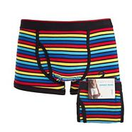 Multicoloured rainbow stripe key hole trunks