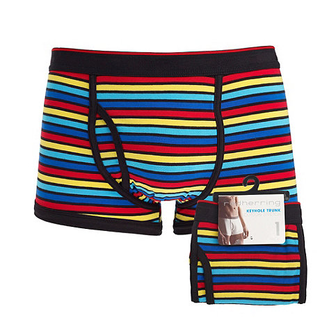 Red Herring - Multicoloured rainbow stripe key hole trunks