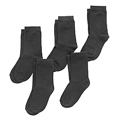 bluezoo - Boy's pack of five grey socks