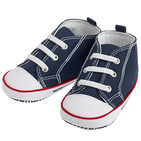 J by Jasper Conran - Designer Babies navy baseball booties