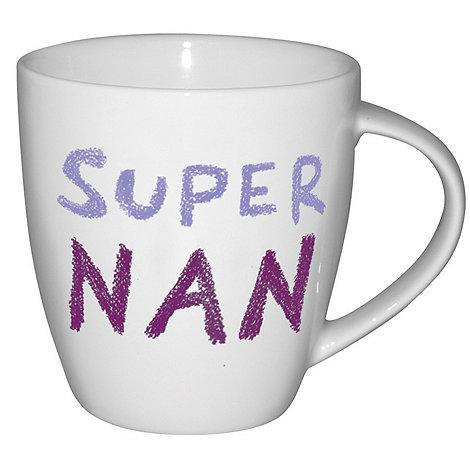 Jamie Oliver - White +Super nan+ mug