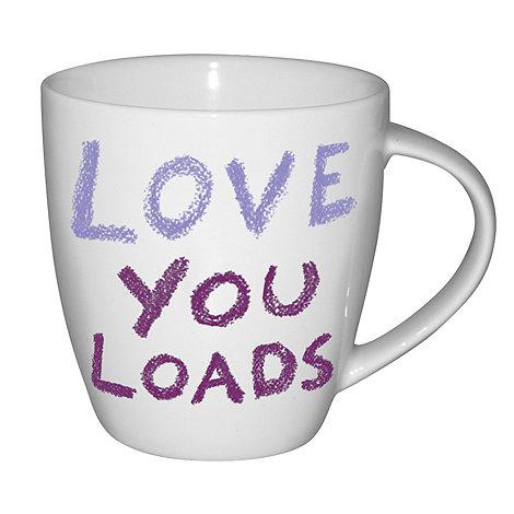 Jamie Oliver - White +Love you loads+ mug